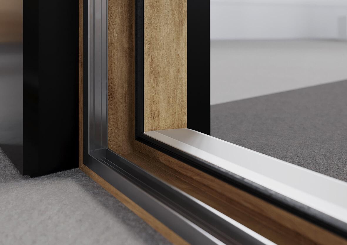Kunststofffenster aus Holz